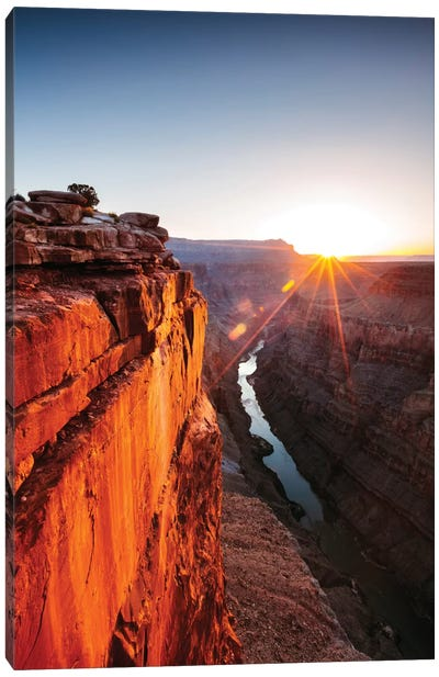 Sunrise, Toroweap Point, North Rim, Grand Canyon National Park, Arizona, USA Canvas Art Print