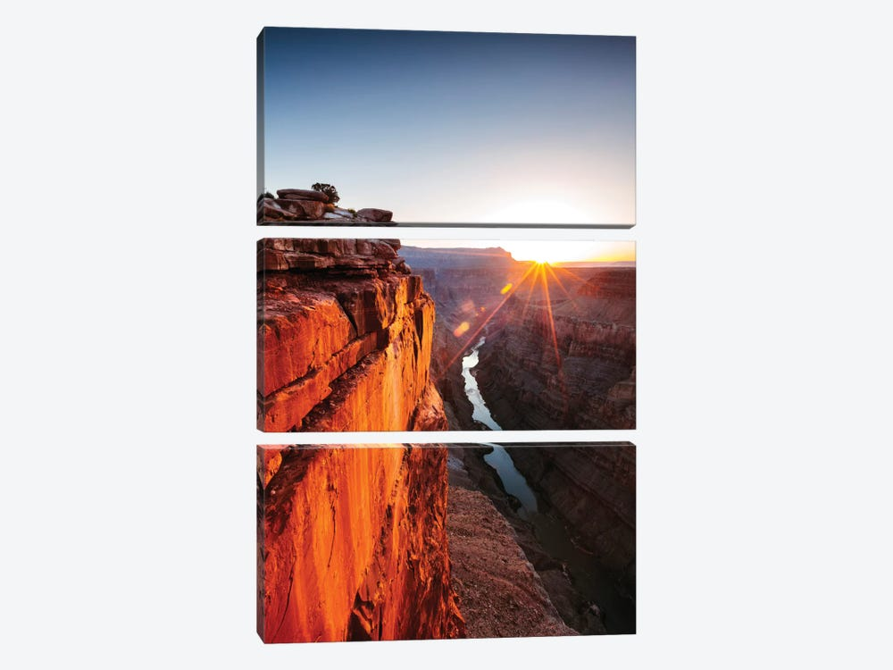 Sunrise, Toroweap Point, North Rim, Grand Canyon National Park, Arizona, USA by Matteo Colombo 3-piece Canvas Print