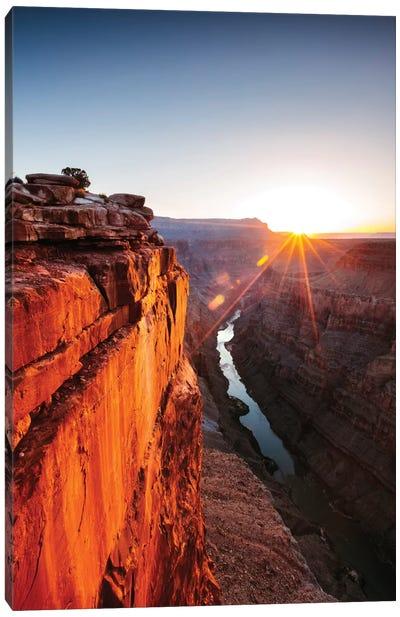 Sunrise, Toroweap Point, North Rim, Grand Canyon National Park, Arizona, USA Canvas Art Print