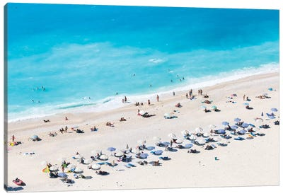 Aerial View Of Myrtos Beach VI, Cephalonia, Ionian Islands, Greece Canvas Art Print