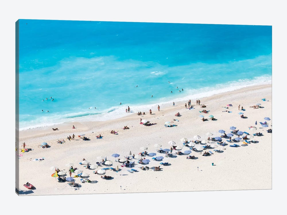 Aerial View Of Myrtos Beach VI, Cephalonia, Ionian Islands, Greece by Matteo Colombo 1-piece Canvas Wall Art