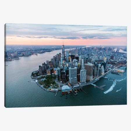 Sunset In New York City Canvas Print #TEO901} by Matteo Colombo Canvas Print