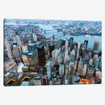 Flying Over Manhattan Canvas Print #TEO902} by Matteo Colombo Canvas Art Print
