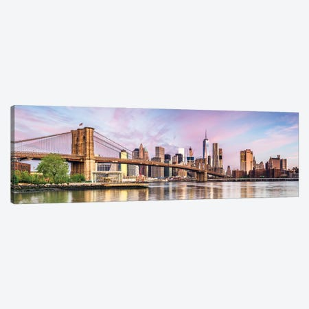 Colorful Dawn In New York Canvas Print #TEO904} by Matteo Colombo Canvas Art