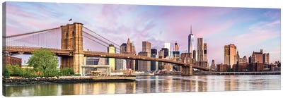 Colorful Dawn In New York Canvas Art Print