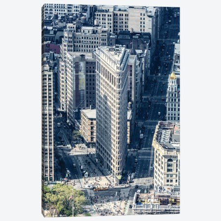 Flatiron From Above Canvas Print #TEO906} by Matteo Colombo Canvas Art
