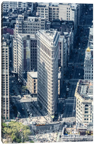 Flatiron From Above Canvas Art Print