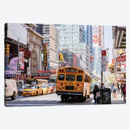 In The Streets Of New York Canvas Print #TEO907} by Matteo Colombo Canvas Art