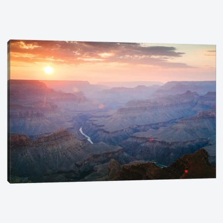 Sunset As Seen Mohave Point, South Rim, Grand Canyon National Park, Arizona, USA Canvas Print #TEO90} by Matteo Colombo Art Print