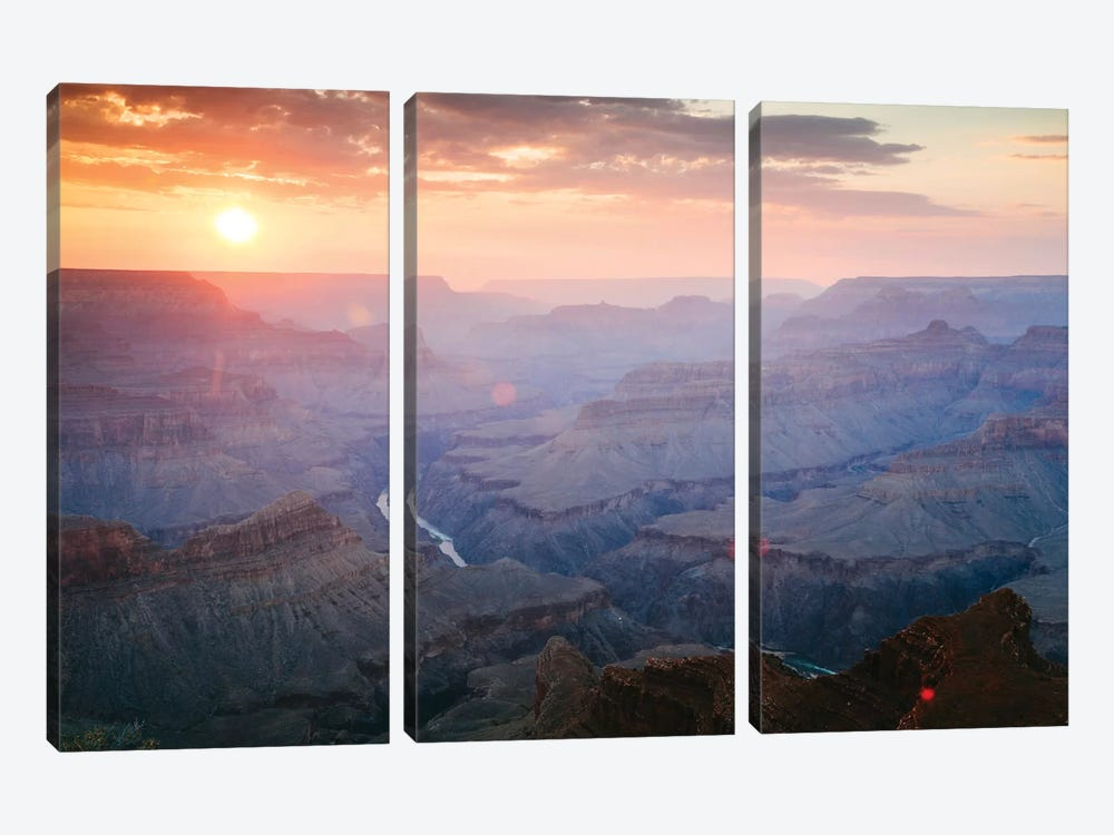 Sunset As Seen Mohave Point, South Rim, Grand Canyon National Park, Arizona, USA by Matteo Colombo 3-piece Canvas Art Print