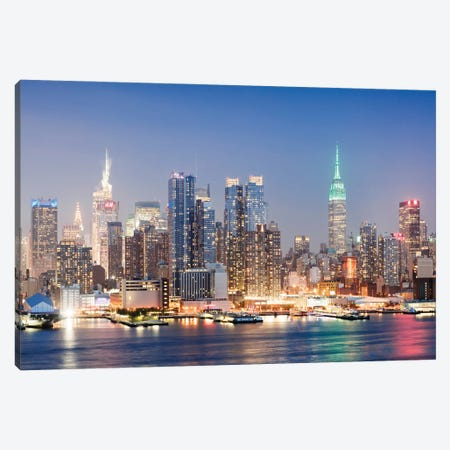 Night In New York City Canvas Print #TEO910} by Matteo Colombo Canvas Artwork