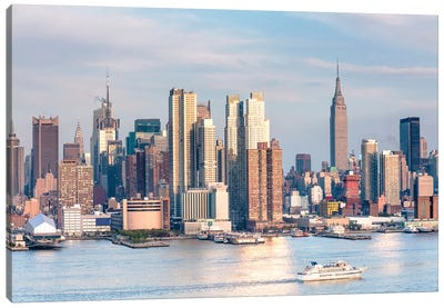 Sunset In New York Canvas Art Print