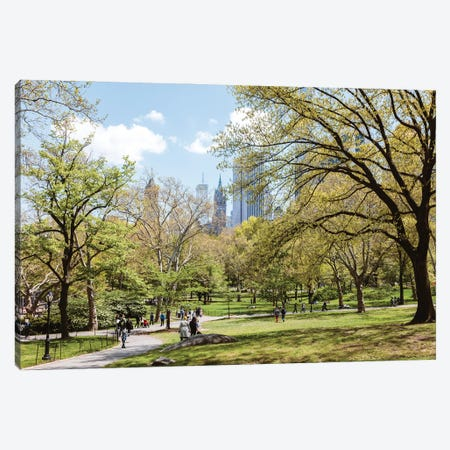 Spring At The Central Park Canvas Print #TEO916} by Matteo Colombo Canvas Art Print