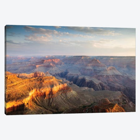 Sunset As Seen Yavapai Point, South Rim, Grand Canyon National Park, Arizona, USA Canvas Print #TEO91} by Matteo Colombo Canvas Art Print
