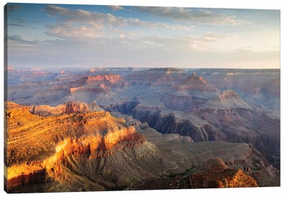 Sunset As Seen Yavapai Point, South Rim, Grand Canyon National Park, Arizona, USA Canvas Art Print