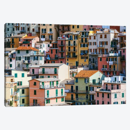Colorful Houses, Cinque Terre Canvas Print #TEO920} by Matteo Colombo Canvas Print