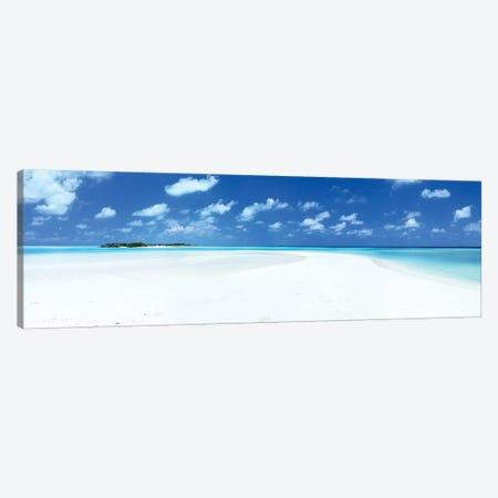 Sand And Sea, Maldives Canvas Print #TEO926} by Matteo Colombo Canvas Wall Art