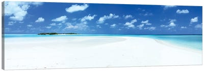 Sand And Sea, Maldives Canvas Art Print