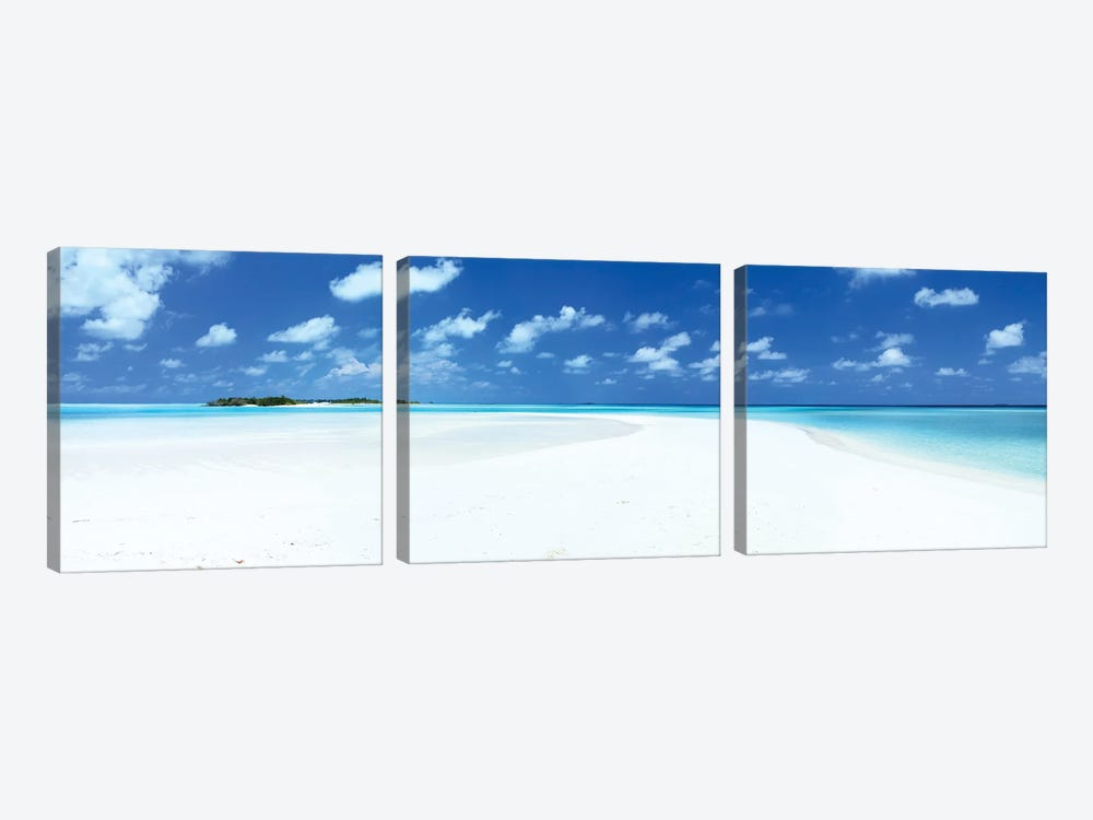 Sand And Sea, Maldives by Matteo Colombo 3-piece Canvas Wall Art