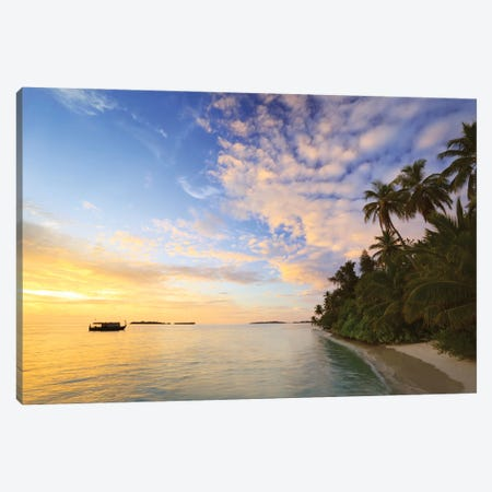 First Light On The Island Canvas Print #TEO927} by Matteo Colombo Canvas Artwork