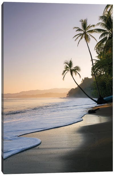 Sunset At The Beach, Bahia Drake, Osa Peninsula, Costa Rica Canvas Art Print