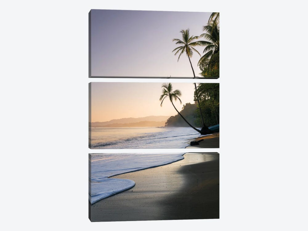 Sunset At The Beach, Bahia Drake, Osa Peninsula, Costa Rica by Matteo Colombo 3-piece Canvas Print