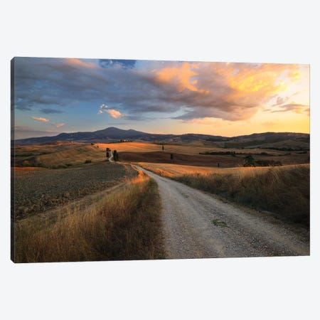 Sunset In Tuscany Canvas Print #TEO930} by Matteo Colombo Canvas Art