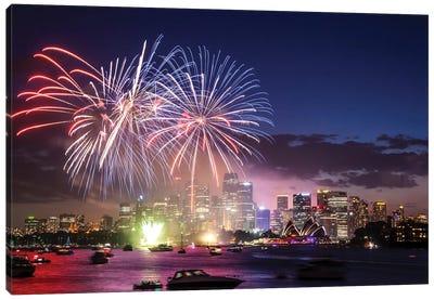 Sydney Fireworks I Canvas Art Print