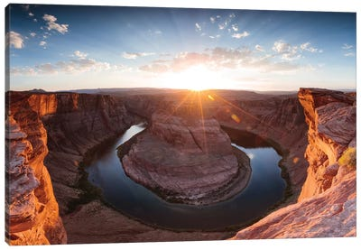 Sunset I, Horseshoe Bend, Glen Canyon National Recreation Area, Arizona, USA Canvas Print #TEO93