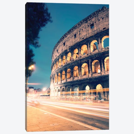 Night At The Colosseum II Canvas Print #TEO942} by Matteo Colombo Art Print