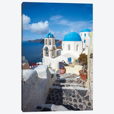 Summer In Santorini II Canvas Print #TEO948} by Matteo Colombo Canvas Art Print