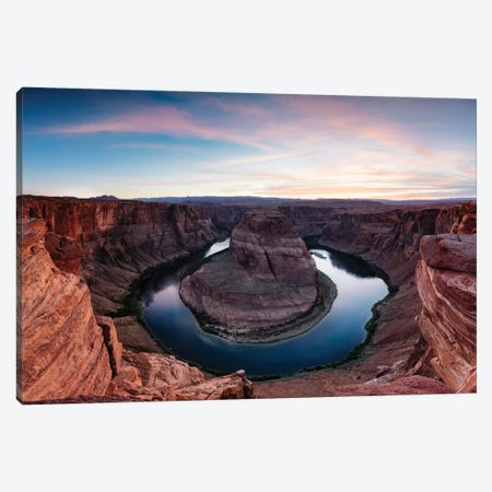 Sunset II, Horseshoe Bend, Glen Canyon National Recreation Area, Arizona, USA Canvas Print #TEO94} by Matteo Colombo Canvas Art