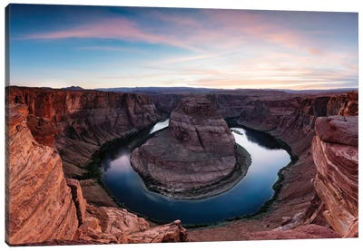 Sunset II, Horseshoe Bend, Glen Canyon National Recreation Area, Arizona, USA Canvas Print #TEO94