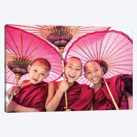 Three Little Monks I Canvas Print #TEO956} by Matteo Colombo Art Print