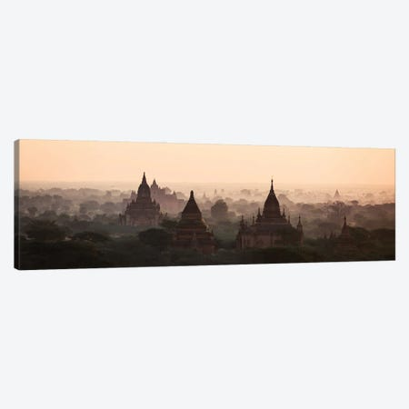 Bagan Valley Panoramic Canvas Print #TEO957} by Matteo Colombo Art Print