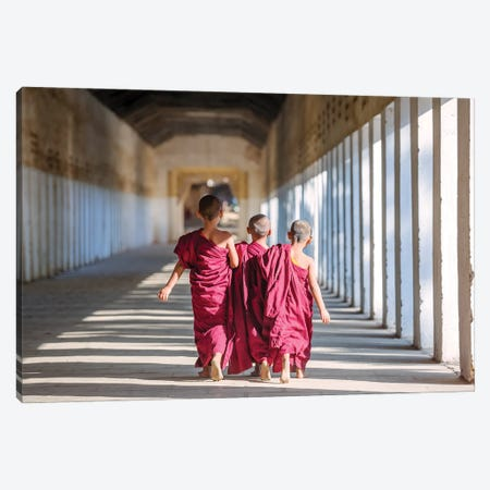 Three Little Monks II Canvas Print #TEO959} by Matteo Colombo Canvas Artwork