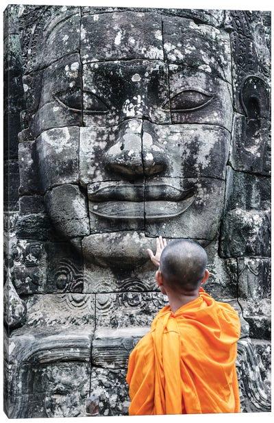 Monk, Angkor Wat I Canvas Art Print