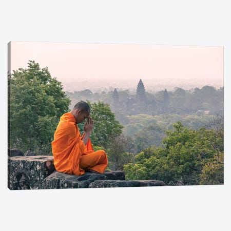 Monk, Angkor Wat II Canvas Print #TEO961} by Matteo Colombo Canvas Print