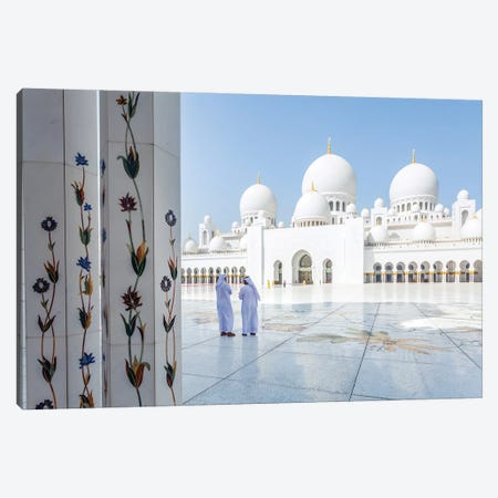 At The Great Mosque, Abu Dhabi Canvas Print #TEO965} by Matteo Colombo Canvas Wall Art