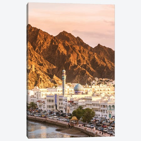 Mutrah At Sunset, Oman Canvas Print #TEO967} by Matteo Colombo Canvas Art
