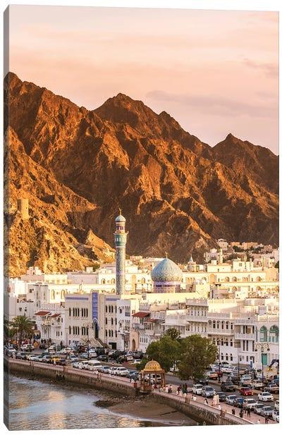 Mutrah At Sunset, Oman Canvas Art Print
