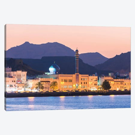 Old Town At Dusk, Oman Canvas Print #TEO968} by Matteo Colombo Art Print