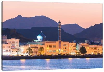 Old Town At Dusk, Oman Canvas Art Print
