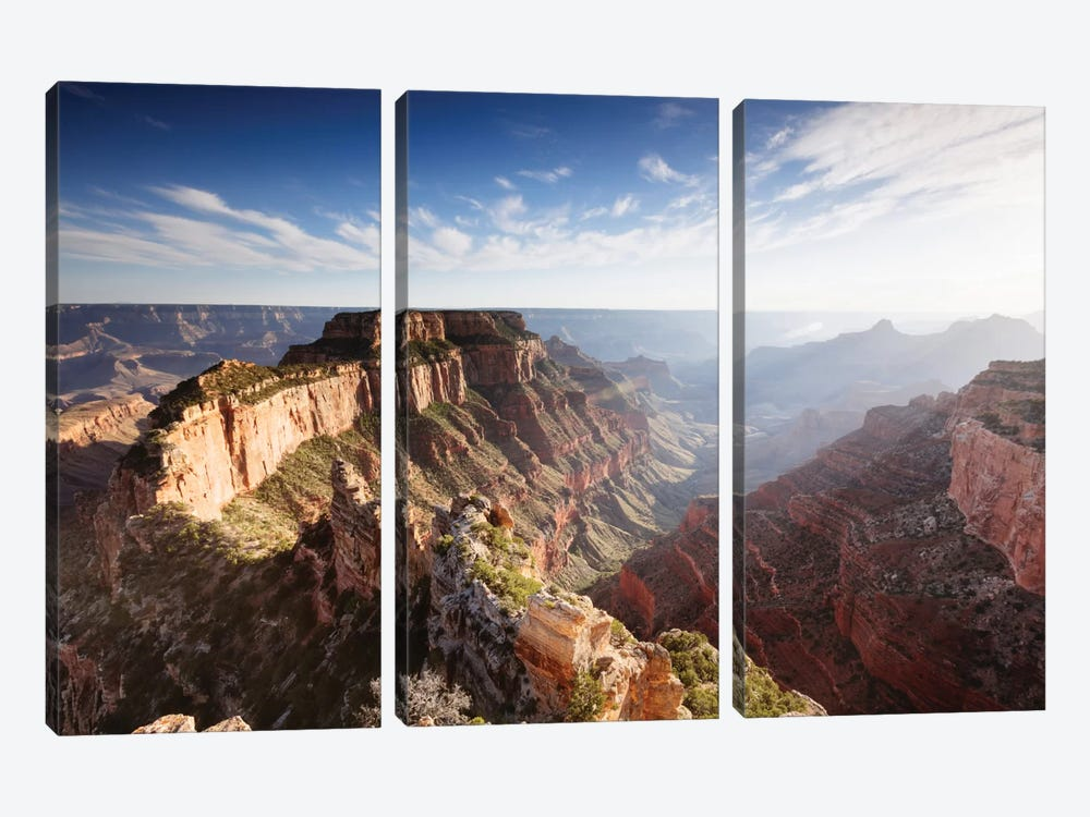 Sunset, Cape Royal, Grand Canyon National Park, Arizona, USA by Matteo Colombo 3-piece Canvas Art Print