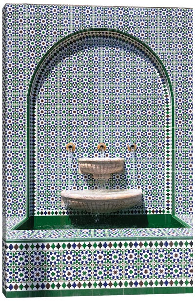 At The Mosque Canvas Art Print