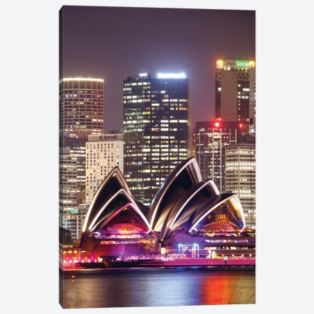 Sydney Opera House At Night, Sydney, New South Wales, Australia Canvas Print #TEO97} by Matteo Colombo Canvas Wall Art