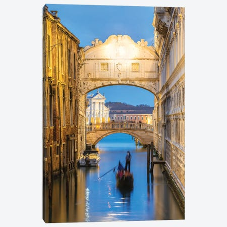 Bridge Of Sighs, Venice Canvas Print #TEO981} by Matteo Colombo Canvas Print