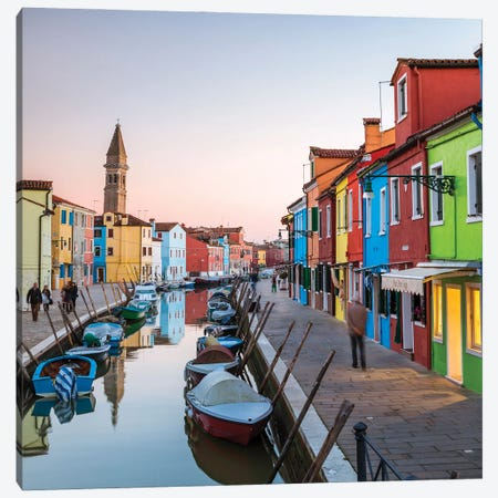 Burano Colors II Canvas Print #TEO985} by Matteo Colombo Canvas Art