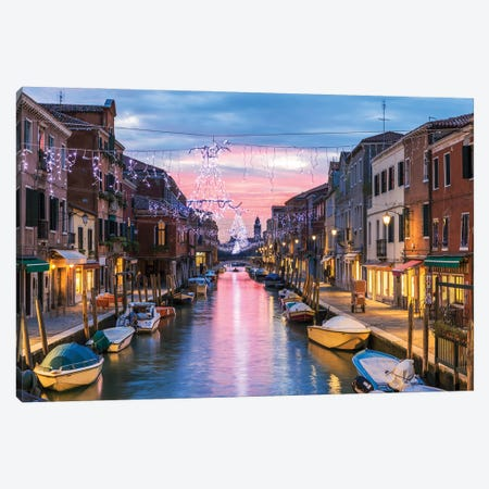 Christmas In Venice Canvas Print #TEO986} by Matteo Colombo Canvas Artwork