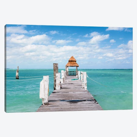 Jetty On The Caribbean Sea I Canvas Print #TEO989} by Matteo Colombo Canvas Print